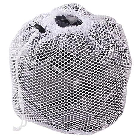 Bolsas reutilizables de malla para la colada, bolsa de red para lavadora con cordón para la ropa sucia, malla para lavar fuerte y gruesa, As Picture ...