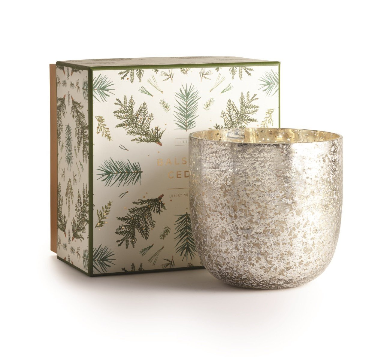 Illume Balsam and Cedar Luxe Boxed Mercury Candle 22 Ounce by Illume