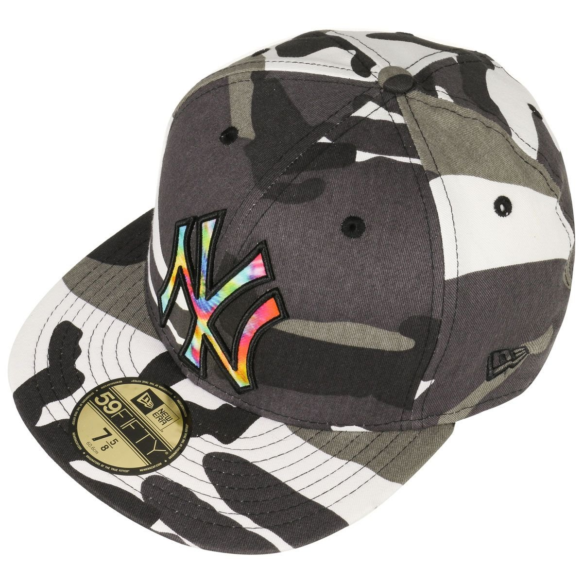 4b26a845301 59FIFTY Camo Colour Swirl Cap NEW ERA caps fitted cap (62 cm - grey)   Amazon.co.uk  Clothing