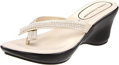 Athena Alexander Women's Roxi Thong Sandal,Champagne,12 ...