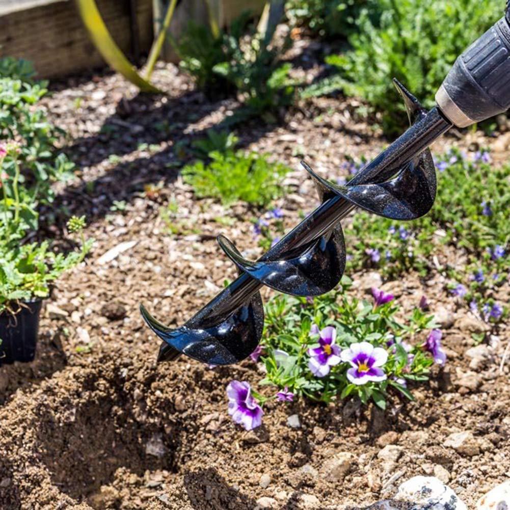 Garten S/ämlinge Loch Blumenzwiebeln Blumen Lai-LYQ Spiralbohrer manueller elektrischer Bagger-Werkzeug f/ür Pflanzen