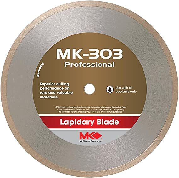 MK Diamond 153696 MK-303 Professional 10-Inch Diameter Lapidary Blade by .040-Inch wide by 5/8-Inch Arbor