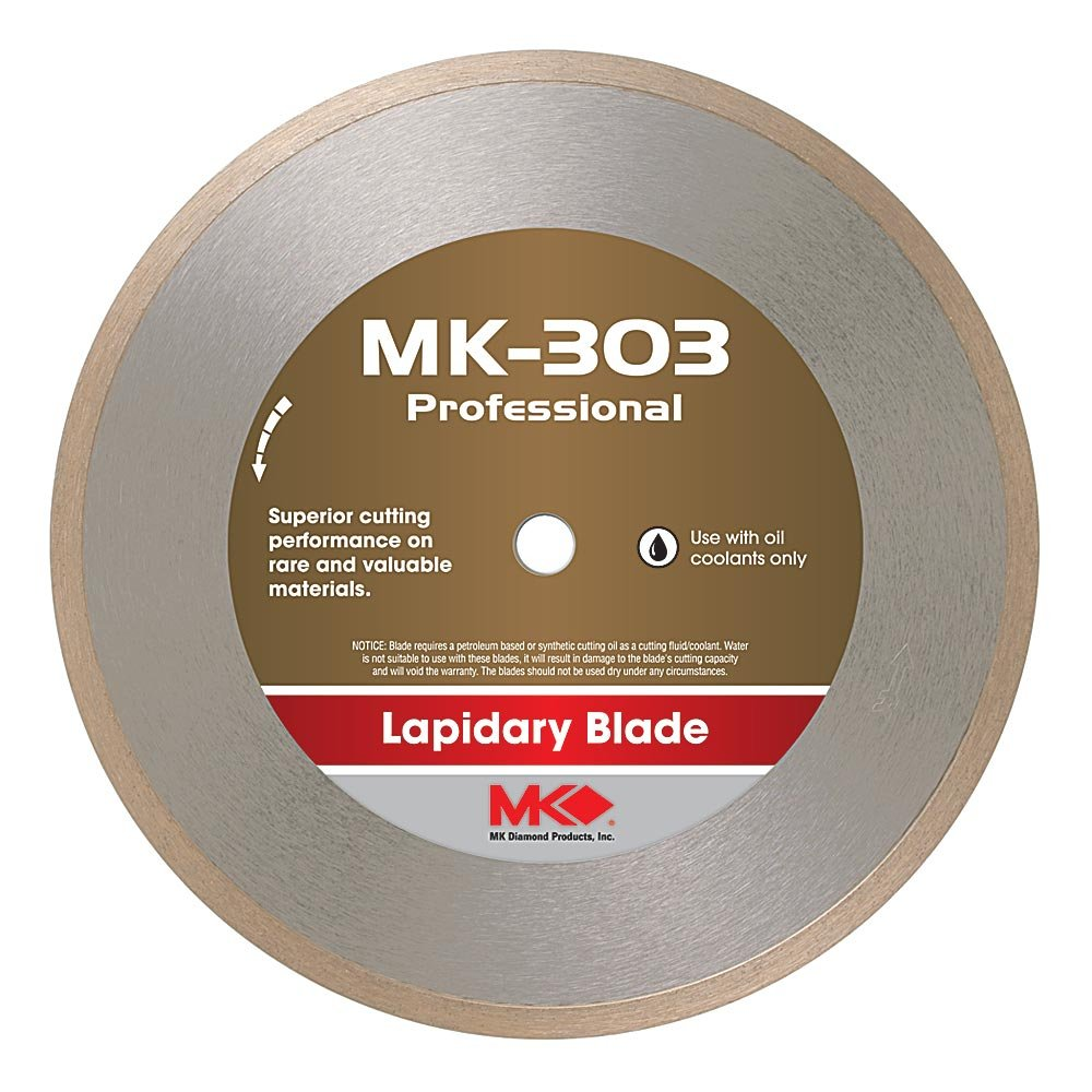 MK Diamond 153742 MK-303 Professional 4-Inch Diameter Lapidary Blade by .014-Inch wide by 1/2-Inch Arbor