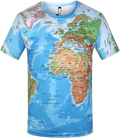 Sfnicve Men Animal Print Casual Polyester Short Sleeve Teen Boys Clothing