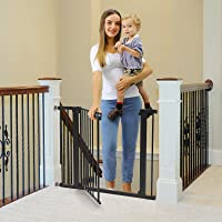 "Cumbor 40.6""Dog Gates for Stairs and Doorways, Extra Wide Dog Gate for The House,Durable Easy Walk Thru Baby Gate…"