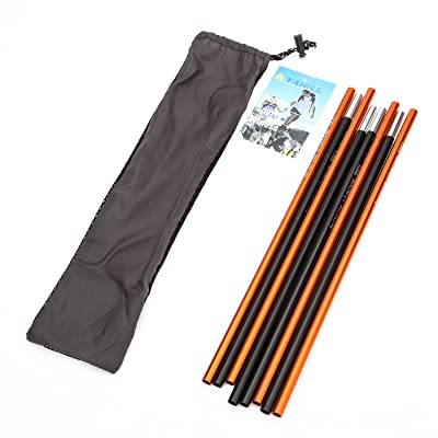 YAHILL Ultralight Folding Camping Cot Sleeping Collapsible Portable Foldable Bed Aluminum Replacements for Tent Backpack, Adults Youth Outdoor Travel Hiking Fishing (4pcs Support Rods/ 1st Generation): Sports & Outdoors