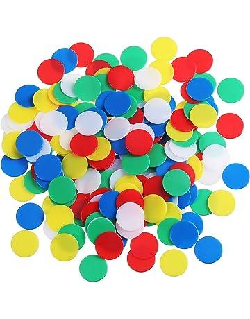 200 Piezas de Contador Colorido Marcador de Plástico Chips Bingo con Bolsa de Almacenaje para Matemáticas