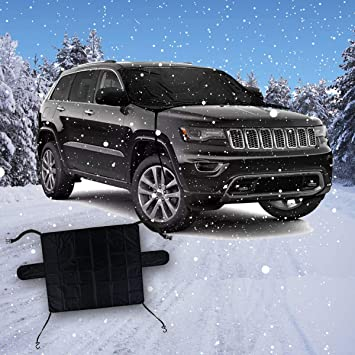 Windshield Frost Ice Snow Protector Reversible VaygWay Car Snow Ice Cover Exterior All Weather Frost Guard-Waterproof Clean Cover No Scraping