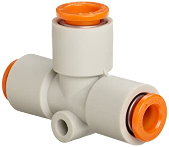PUSH TO CONNECT FITTING 5/16 OD TUBE TEE Business & Industrial Hydraulics, Pneumatics, Pumps & Plumbing