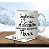 Only the Best Mums Get Promoted to Nana - Mug and Coaster By Inky Penguin