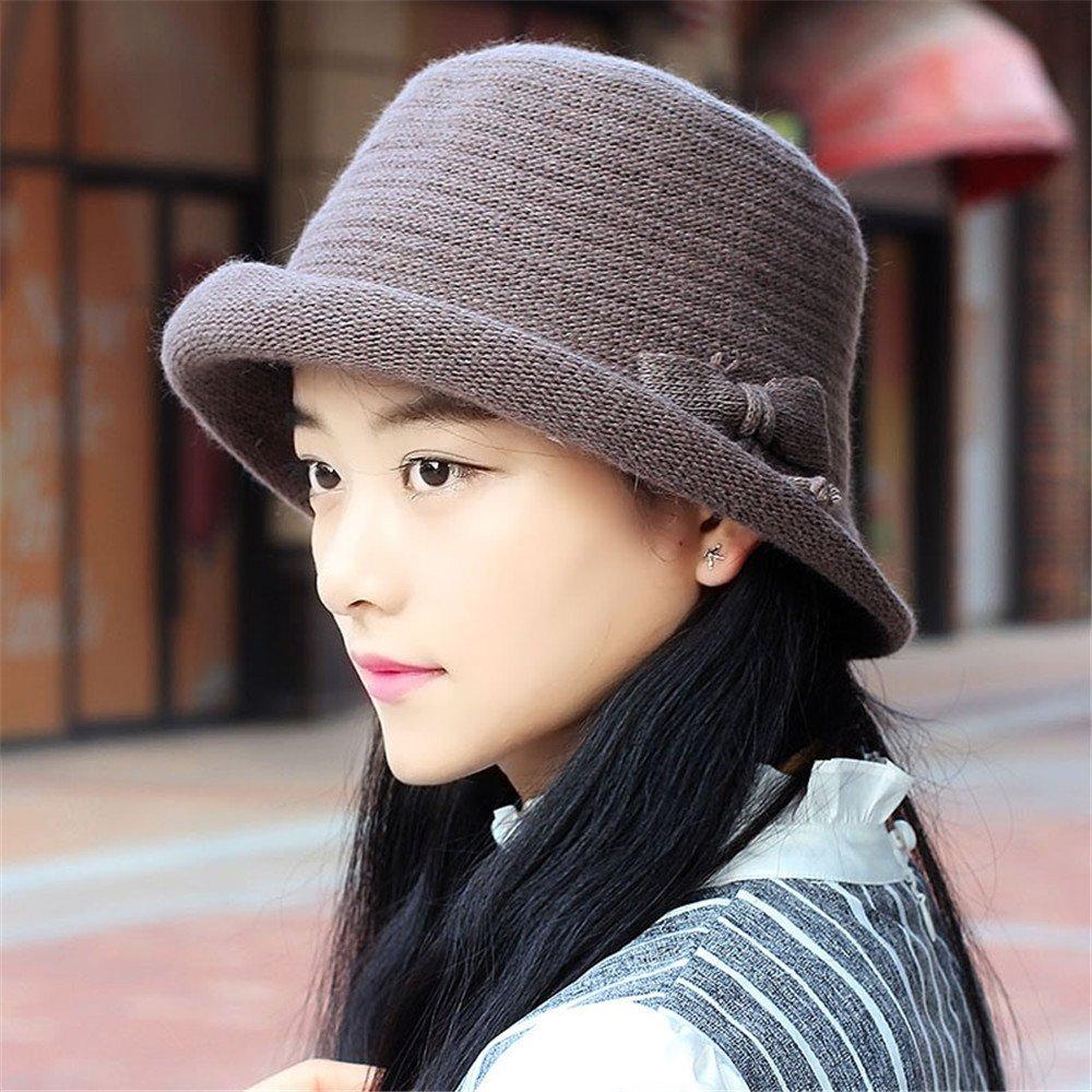 Un sombrero de mujer sombrero de Curling Femenino pequeña cúpula del otoño e invierno todos ocio-mat...