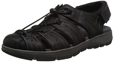 c746b03f490 Clarks Men's Brixby Cove Ankle Strap Sandals: Amazon.co.uk: Shoes & Bags