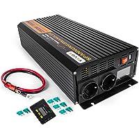 Mophorn 2500W Pico 5000W Inversor de Potencia de Onda Senoidal Pura Convertidor DC 12V a AC 230V con Pantalla LCD