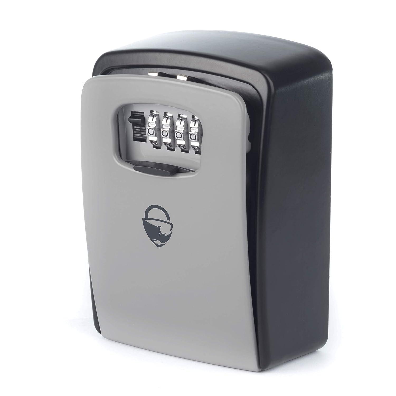 Rhino Lock - Caja de seguridad para cerradura de pared (tamañ o XL, resistente, almacenamiento extra grande para llaves de casa, oficina, coche o furgoneta, con bloqueo de 4 dí gitos) con bloqueo de 4 dígitos)