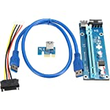 Board Module, ELEGIANT USB 3.0 PCI-E Express 1x to 16x Extender Riser Board Card Adapter with SATA Cable for Personal Computer Laptop
