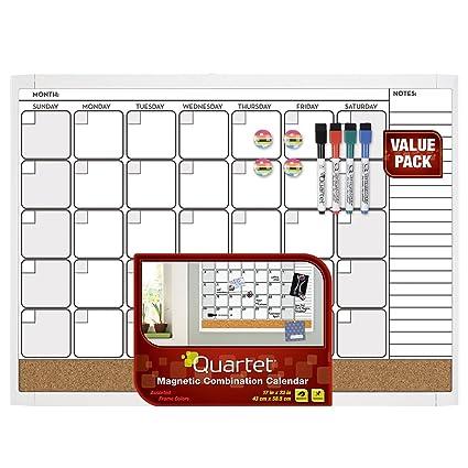 Amazon.com : Quartet Magnetic Combination Calendar Dry Erase Board ...