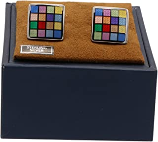 product image for David Donahue Multi Checkerboard Cuff Links