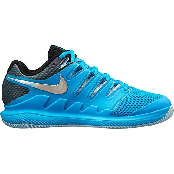 NIKE Womens Zoom Vapor X Tennis Shoes (10 B US, Lt. Blue Fury/Multi-Color/Bleached Aqua)