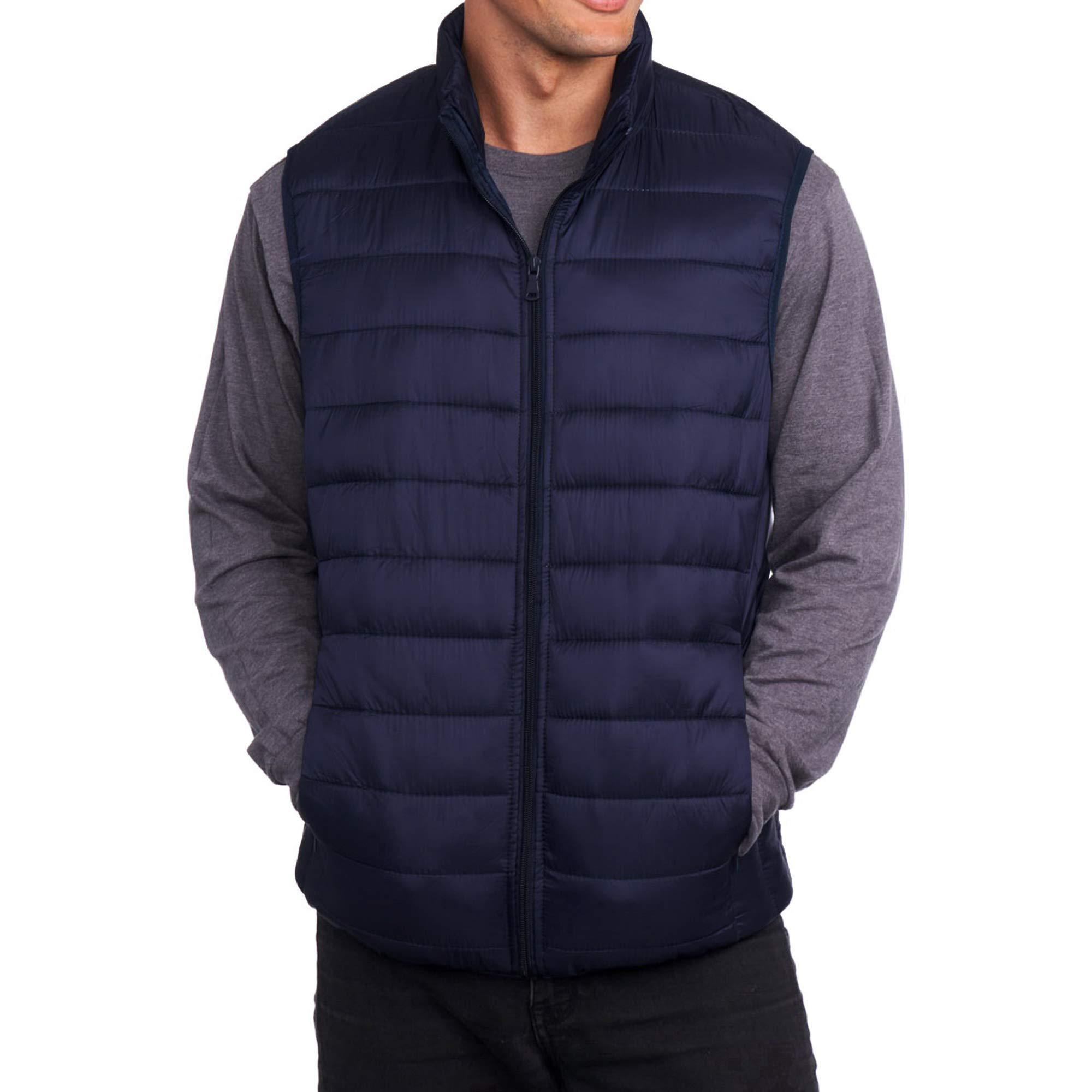 alpine swiss Clark Mens Lightweight Down Alternative Vest Jacket Navy Medium by alpine swiss