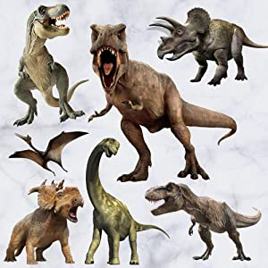 Dinosaur Wall Stickers, Peel & Stick Removable Wall Art Sticker Decals for Kids Bedroom Nursery Playroom Living Room,Multicolor