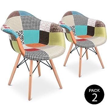McHaus Aura Pack 2 sillones Vintage Silla Comedor Cocina diseño ...