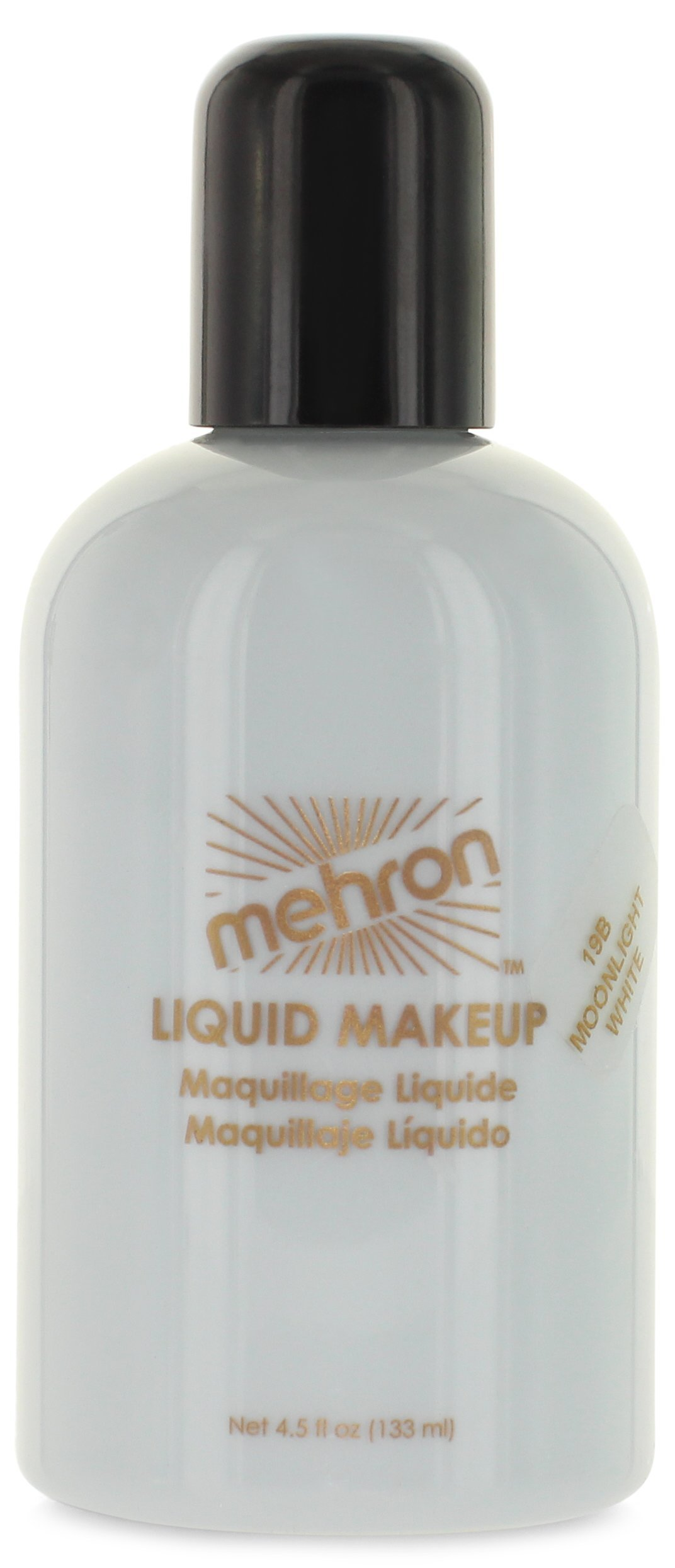 Mehron Makeup Liquid Face and Body Paint (4.5 oz) (MOONLIGHT WHITE)