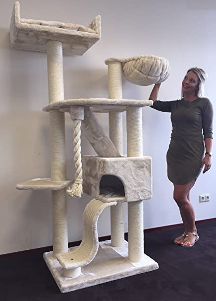 Cat Tree For Large Cats Cat Mansion Beige  Lbs 5 Inch