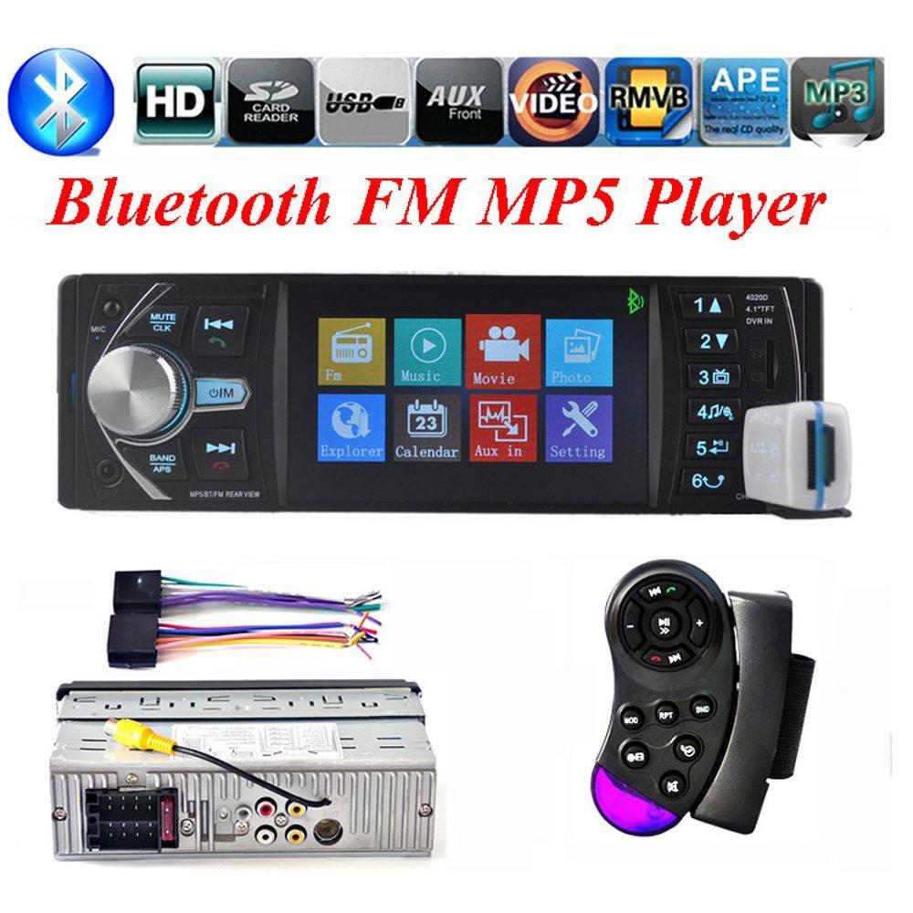 BoomBoost 4,1 pouces plein angle de vision haute définition TFT Bluetooth lecteur stéréo voiture autoradio