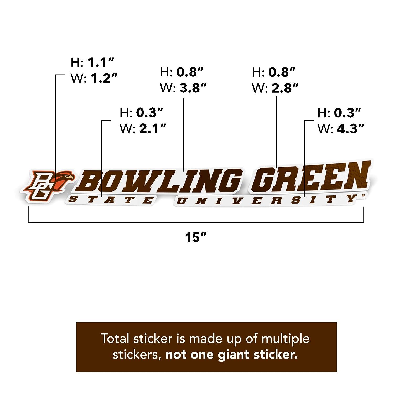 Bowling Green State University BGSU Falcons NCAA Name Logo Vinyl Decal Laptop Water Bottle Car Scrapbook 8 Inch Sticker