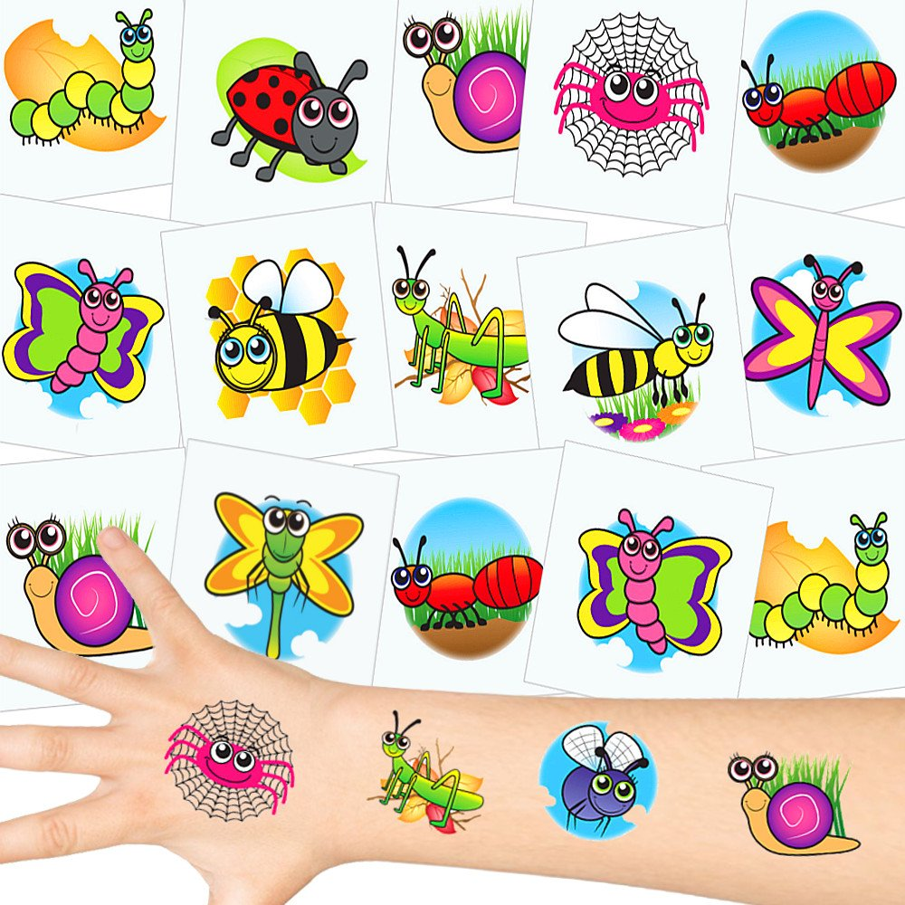 German Trendseller® 72 x tatuajes temporales pequeños escarabajos┃ fiestas infantiles┃ idea de regalo┃piñata┃cumpleaños de niños┃ 72 unidades…