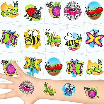 German Trendseller 12 X Tatuajes Temporales Pequeños Escarabajos Fiestas Infantiles Idea De Regalopiñatacumpleaños De Niños 12 Unidades