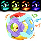Amazon Price History for:Baby Ball,Can Flashing Light and Sounds, Rattle Ball Toy With Gift Box,Yeonha Toys Grip Ball With Holes For Baby Infant Toddler Kids, Teeher Toy Durable Bendy Safety Soft Material