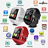 MaiDealz Montre Intelligente SmartWatch Montre connectée Bluetooth 4.0 Bracelet -pour Les Smartphones Android Samsung S3 / S4 / S5 Note 2 / Note 3 Note 4 HTC Sony (noir)