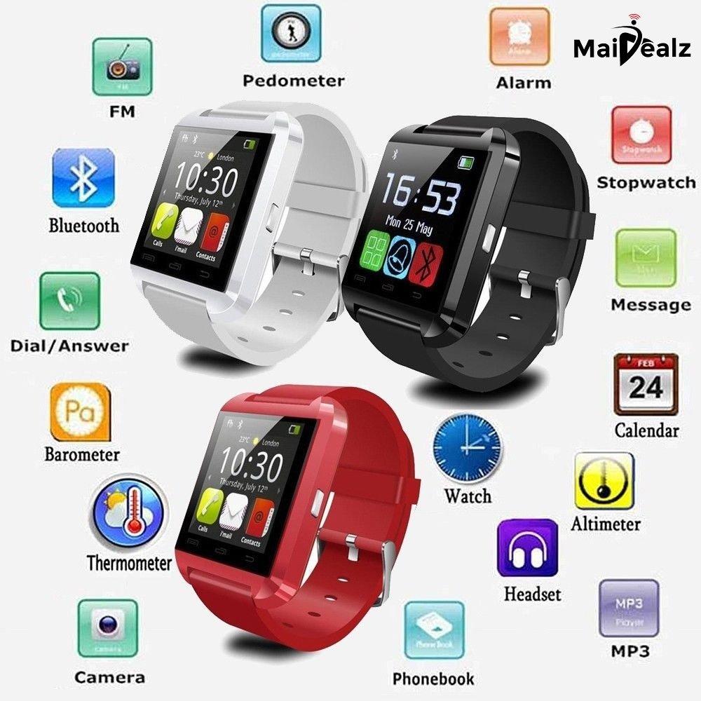 U8 Smartwatch MaiDealz Bluetooth 4.0 Multi-idiomas Reloj Inteligente Smartwatch Podómetro/ Monitor de Sueño/ Alarma/ Calendario con la Pantalla Táctil ...