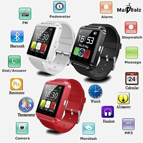 U8 Smartwatch MaiDealz Bluetooth 4.0 Multi-idiomas Reloj Inteligente Smartwatch Podómetro/ Monitor de Sueño