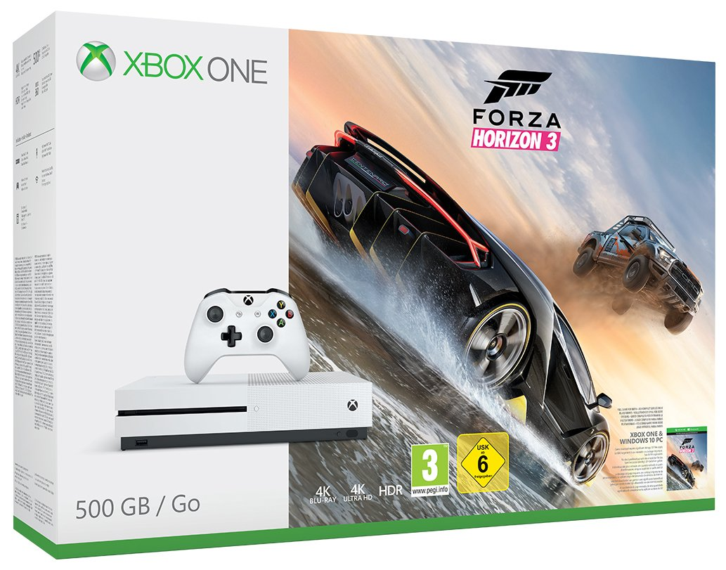 Microsoft Xbox One S Forza Horizon 3 amazon