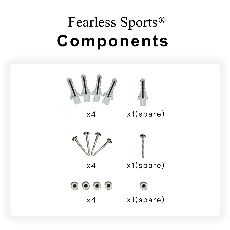 Fearless Sports Appendiabiti da 33/Stili Sport Progettato Medal Medal Holder per Ogni attivit/à Sportiva Karate Medal Hanger 480mmX170mmx20mm