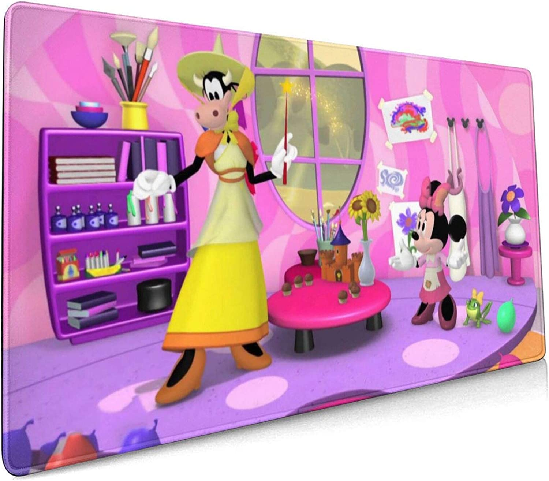 Alfombrilla de ratón Grande para Juegos de Dibujos Animados Mi-ckey Mou-se, Base de Goma Antideslizante, Alfombrilla de ratón Impermeable, para Escritorio, portátil (30x80cm) -ZM