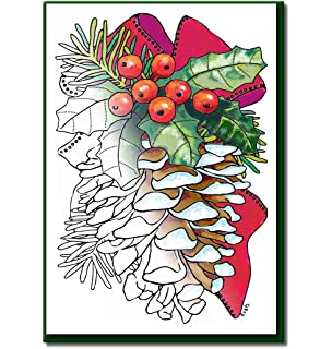 Christmas Cards For Coloring By Adults And Children