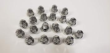 """12 Pieces 1//2/""""-20 Open End Lug Nuts Trailer Wheel Nuts 13//16/"""""""