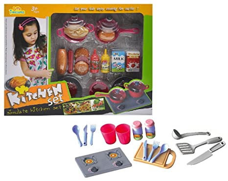 Amazon Com Little Treasures Cooking Kitchen Playset Of 35 Pcs For