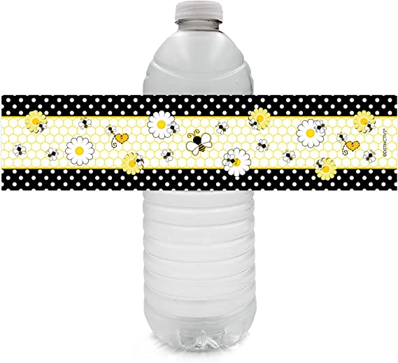 What Will It Bee Water Bottle Labels Label size: 1.5 x 8 Printable Bee