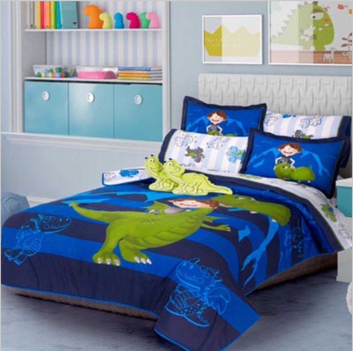 新しいドラゴンCute Kids両面寝具布団セット、シートセット、およびWindowsパネル12個フルサイズ B06XPCS6NR