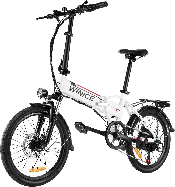 Vivi Bicicleta Eléctrica Plegable, 20 Pulgadas Bici Electrica 250W Adultos Ebike con Batería Litio Extraíble de 36V 8Ah, Engranajes Profesionales de 7 Velocidades