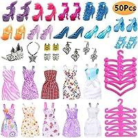 50PCS Ropa Zapatos y Accesorios para Muñeca