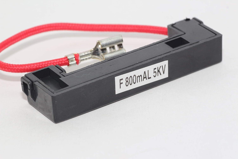 LG - Fusible de alta tensión para horno microondas, 800 mAh, 0,8 A ...
