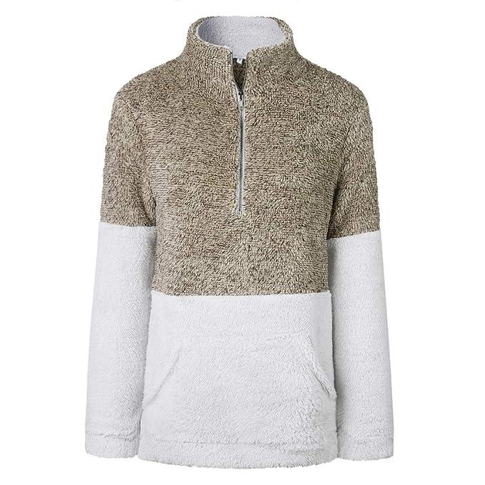 Zip Memoryee Vello Sherpa Oversize Pullover Donna Felpa Moda Soffice QoCEdxWrBe