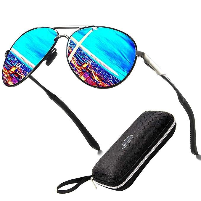 Gafas de sol polarizadas para hombre mujere metal Marco grande/Ciclismo Golf Conducción Pesca Escalada