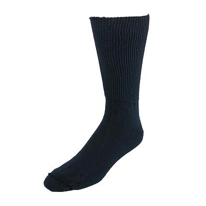 Extra-Wide Sock Company Calcetines de algodón con soporte médico para hombre Talla única Armada