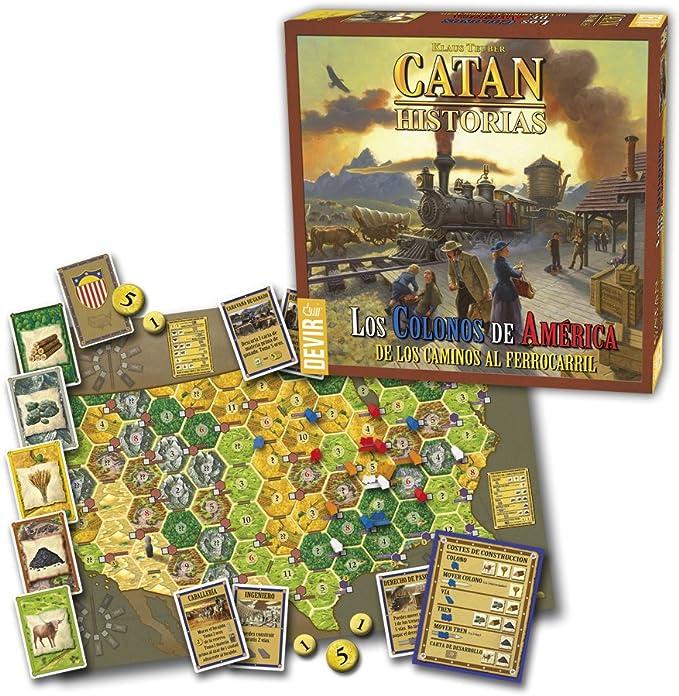 DEVIR Catan Los colonos de América, Juego de mesa: Amazon.es: Juguetes y juegos